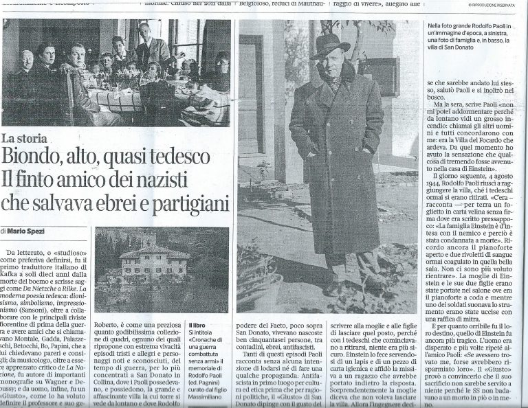 NEWSPAPER ARTICLE ABOUT RODOLFO