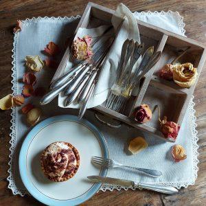 dessert silver set