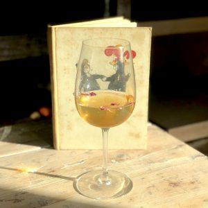 White wine and a children's book